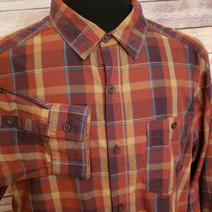Mountain Hardwear Brown Plaid Long Sleeve shirt L